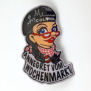 2D-Pin Annegret vom Wochenmarkt