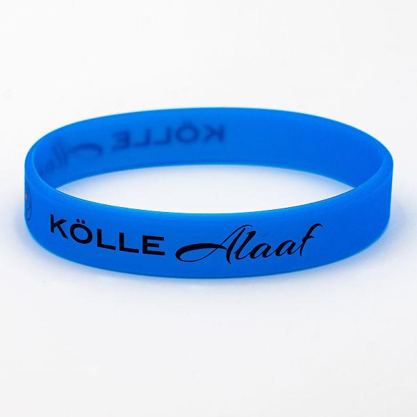 Silikon-Armband Kölle Alaaf, blau