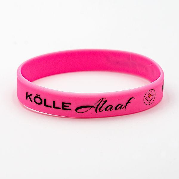 Silikon-Armband Kölle Alaaf, pink