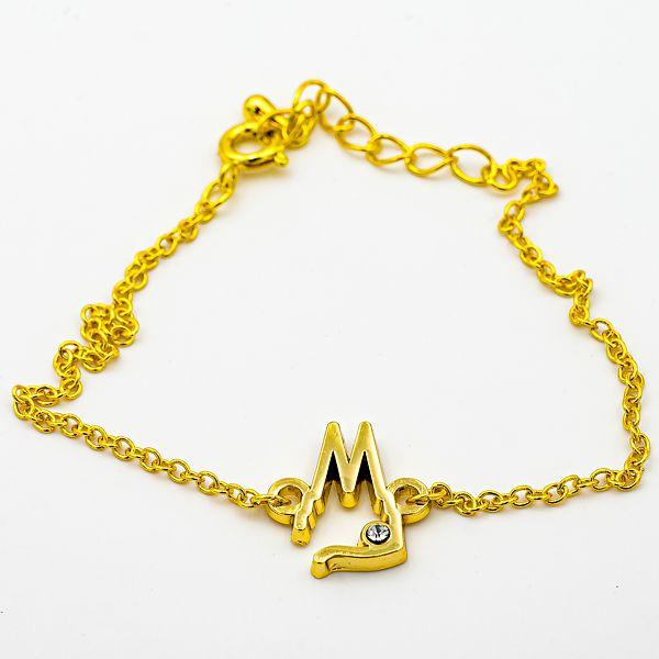 Armband Dom Silhouette offen mit Stein, 2 Varianten - gold