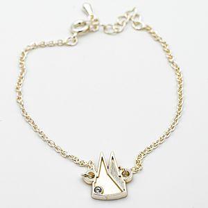 Armband Dom Silhouette gefüllt mit Stein, 2 Varianten - silber matt/glänzend