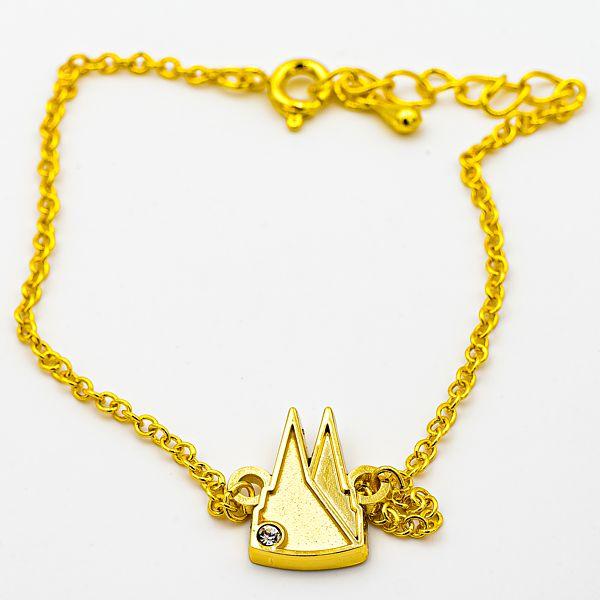 Armband Dom Silhouette gefüllt mit Stein, 2 Varianten - gold matt/glänzend
