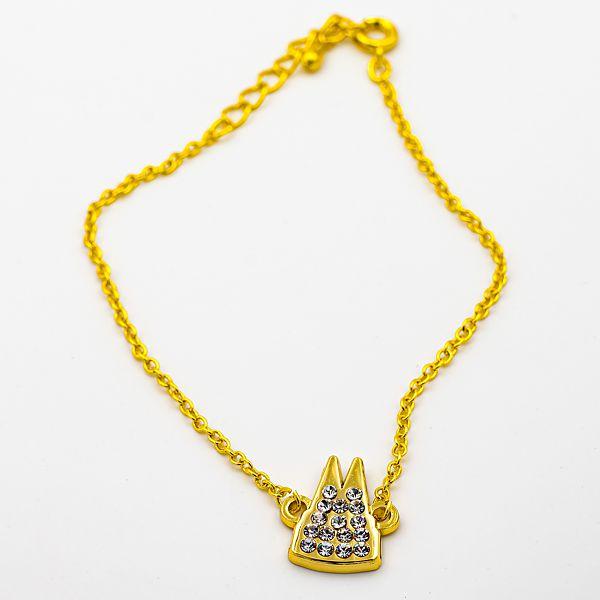 Armband Dom Silhouette gefüllt mit Strass-Steinen, 2 Varianten - gold
