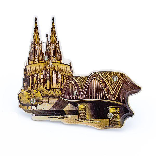 Blinky Dom & Hohenzollernbrücke antik gold