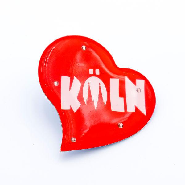 Blinky asymmetrisch mit Köln & Domspitzen rot/weiß