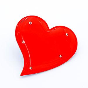 Blinky Herz asymmetrisch rot