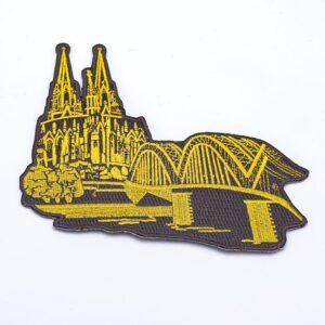 Bügelbild Dom & Hohenzollernbrücke gold