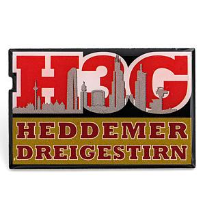 2D-Pin Heddemer Dreigestirn Logo & Skyline
