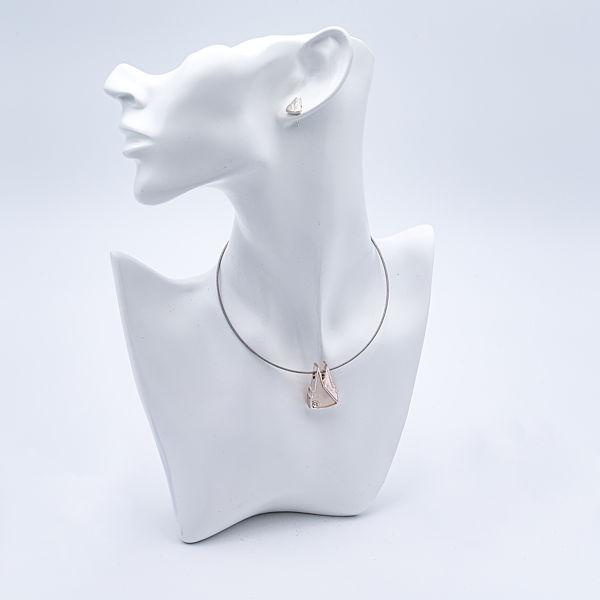 Kette Dom Silhouette gefüllt mit Stein, silber