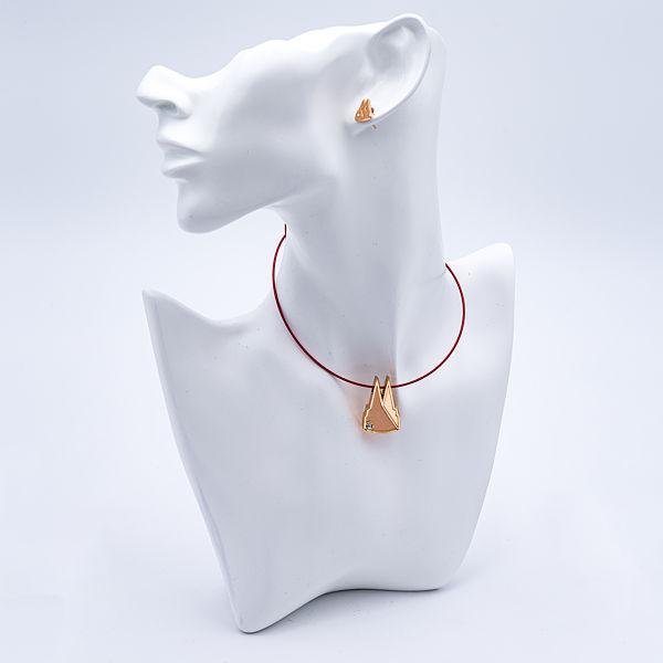 Kette Dom Silhouette gefüllt mit Stein, rose-gold