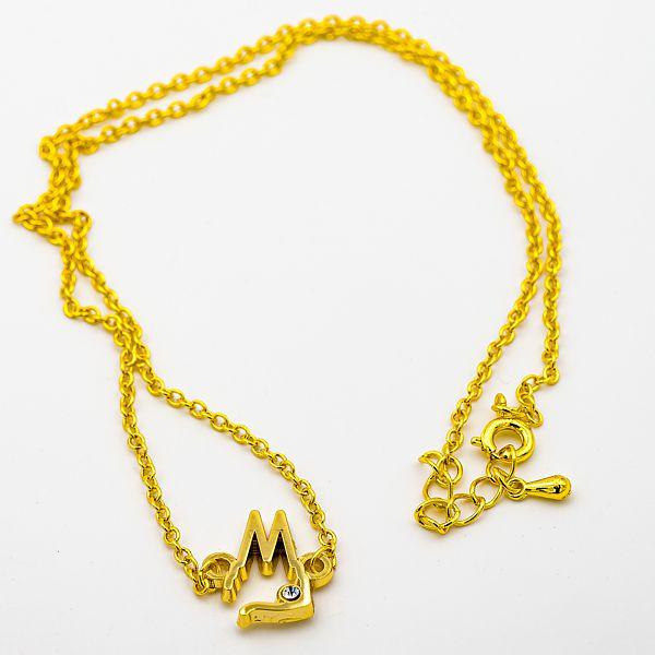 Kette Dom Silhouette offen mit Stein, 2 Varianten - gold
