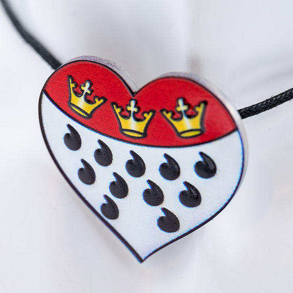 Kette Kölner Wappen, leicht gebogen