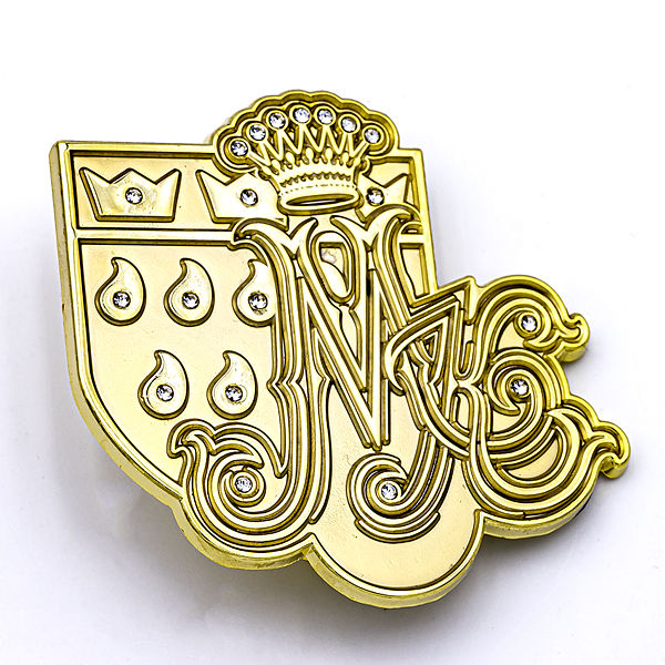 3D-Pin Marita Köllner Logo & Wappen mit Strass-Steinen - Marita Köllner Kollektion
