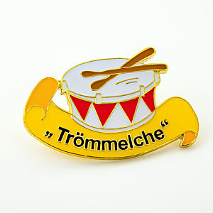 2D-Pin Trömmelche golden