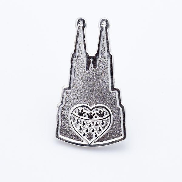 2D-Pin Dom mit Wappen klein, silber