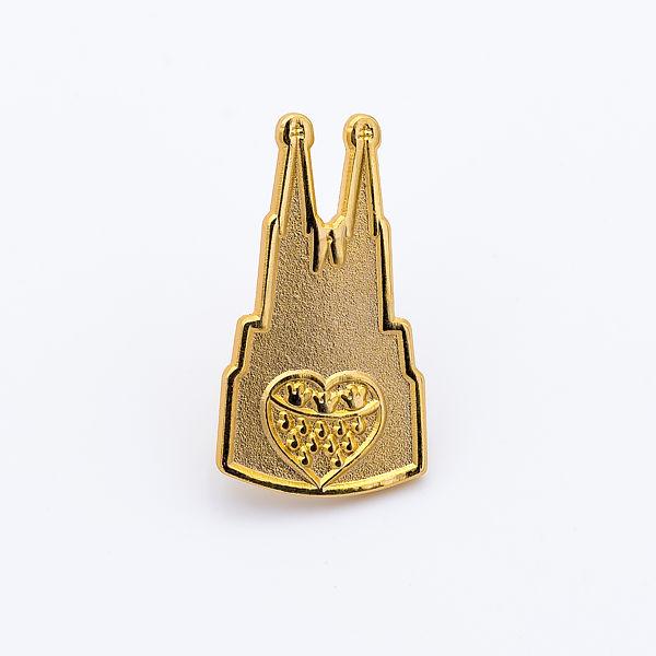 2D-Pin Dom mit Wappen klein, gold