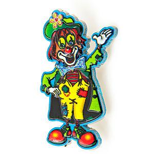 3D-Pin Clown bunt mit Glitzer
