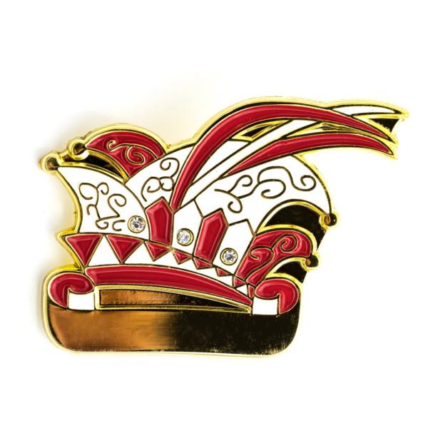 2D-Pin Prinzenmütze mit 3 Steinimitationen