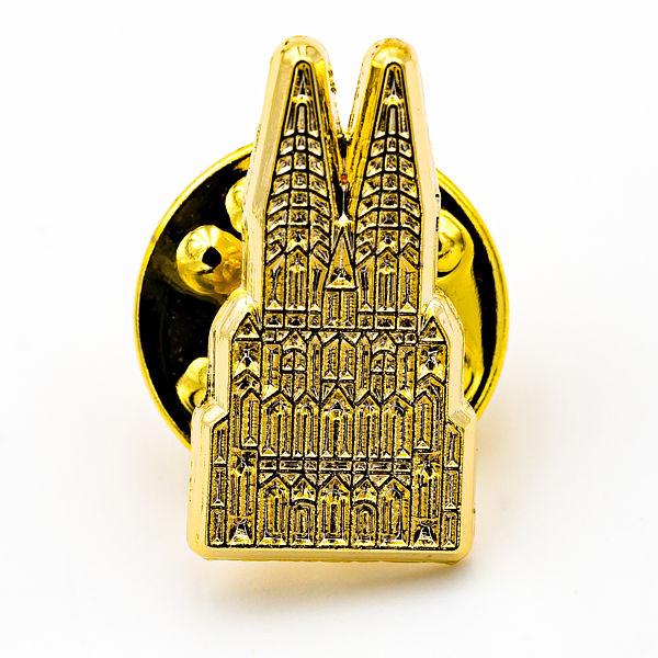 Kölner Dom mit Struktur gold, klein