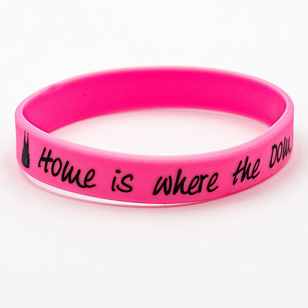 Silikon-Armband Home is where the Dom is, pink - Torben Klein Kollektion