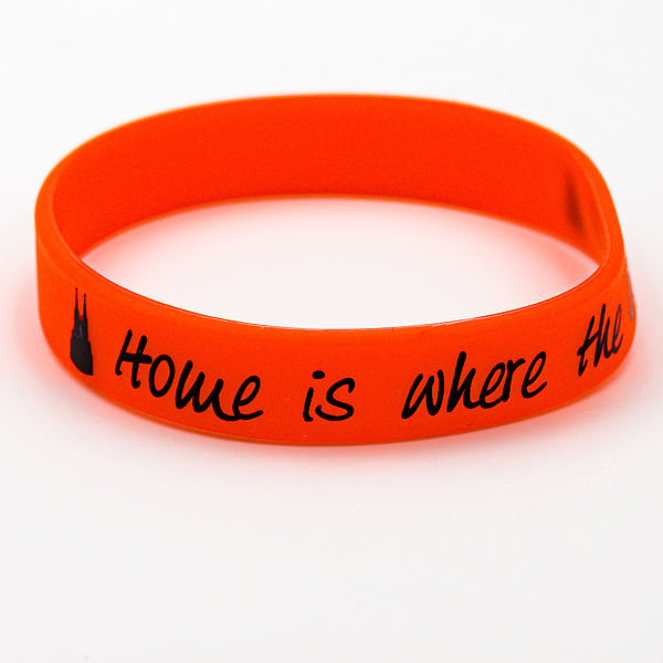 Silikon-Armband Home is where the Dom is, rot - Torben Klein Kollektion
