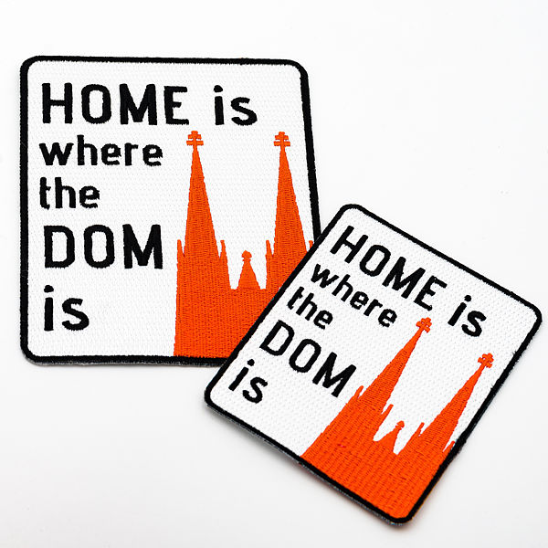 Bügelbild Home is where the Dom is - Torben Klein Kollektion, 2 Varianten