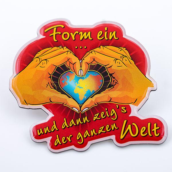 2D-Pin Form ein Herz mit deinen Händen - Torben Klein Kollektion